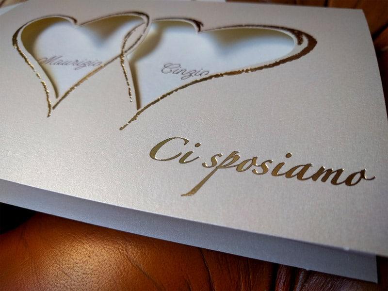 Partecipazioni Inviti Matrimonio.Partecipazione Ci Sposiamo
