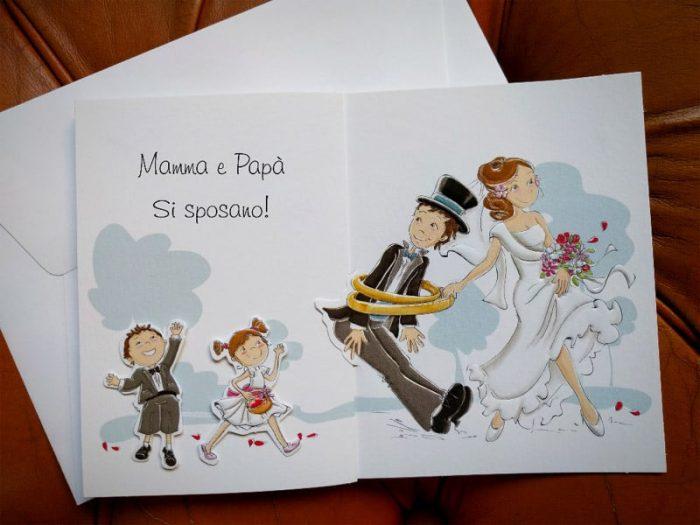 Partecipazione mamma e papà si sposano