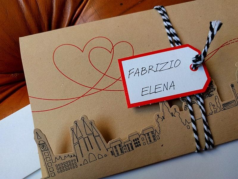 Partecipazione di nozze del catalogo Sposashop.com