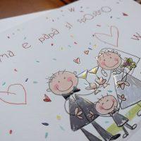 Partecipazioni Matrimonio Genitori.Partecipazione Con Figli Che Annunciano Il Matrimonio Genitori