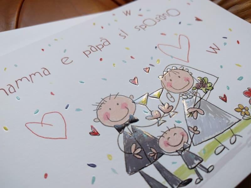 Partecipazioni Matrimonio Con Figli.Partecipazione Con Figli Che Annunciano Il Matrimonio Genitori