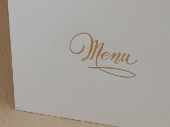 menu carta avorio