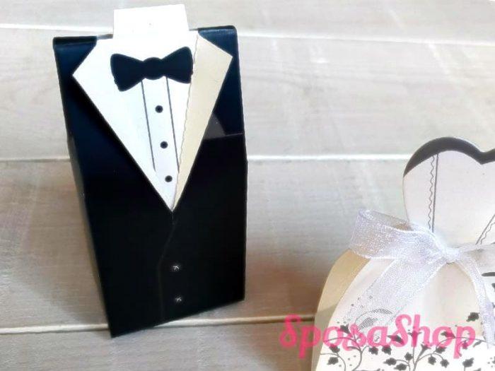 Scatolina portaconfetti sposi