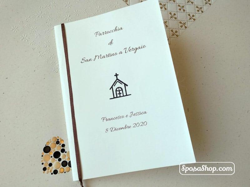 Libretto Matrimonio Rito Romano Word : Libretto messa in carta color avorio da personalizzare