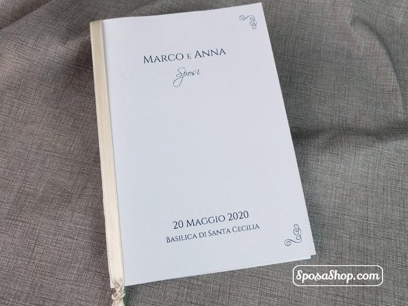 Libretto Matrimonio Simbolico Pdf : Libretto messa bianco plus per cerimonia cordonato e rilegato