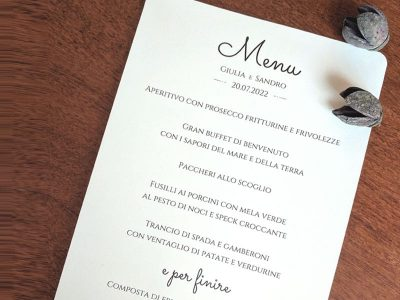 Menu easy in cartoncino bianco